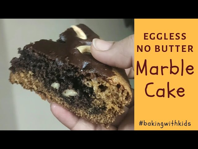 #baking #bakingrecipes #egglessbaking Eggless Marble Cake Recipe - Vanilla & Chocolate Flavor