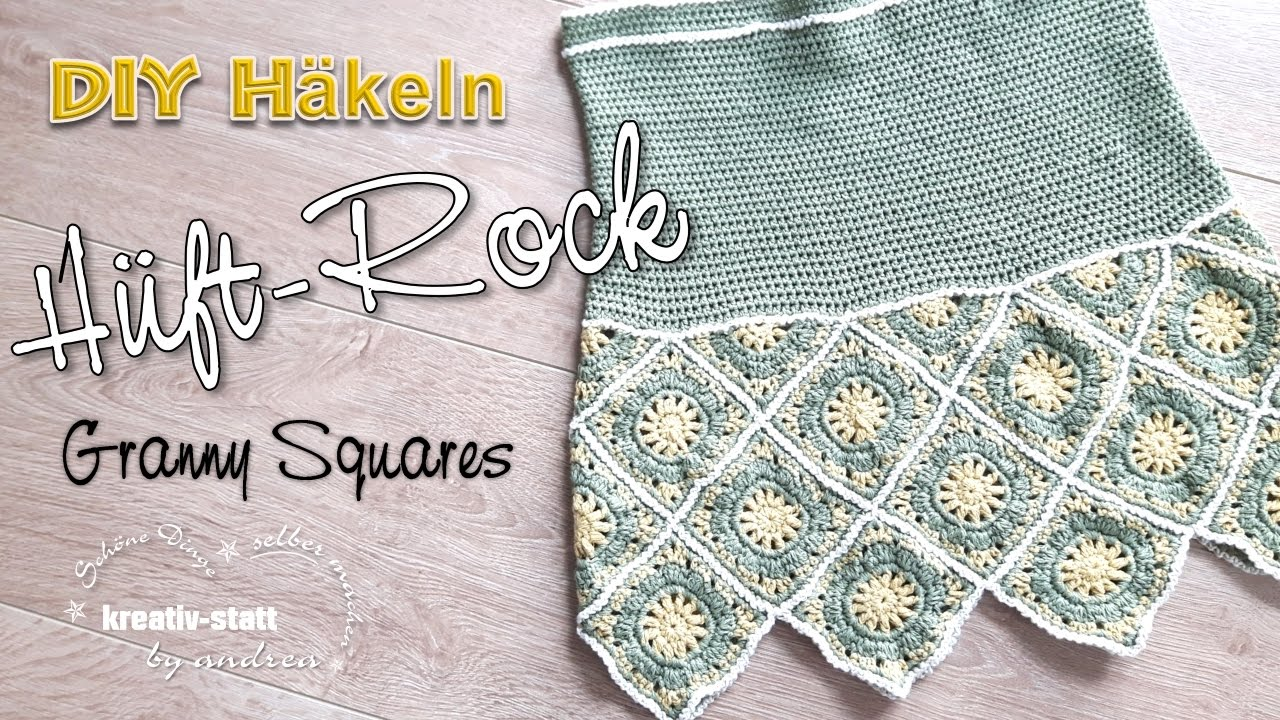 Diy Häkeln Hüft Rock Mit Granny Squares Für Den Sommer Anleitung