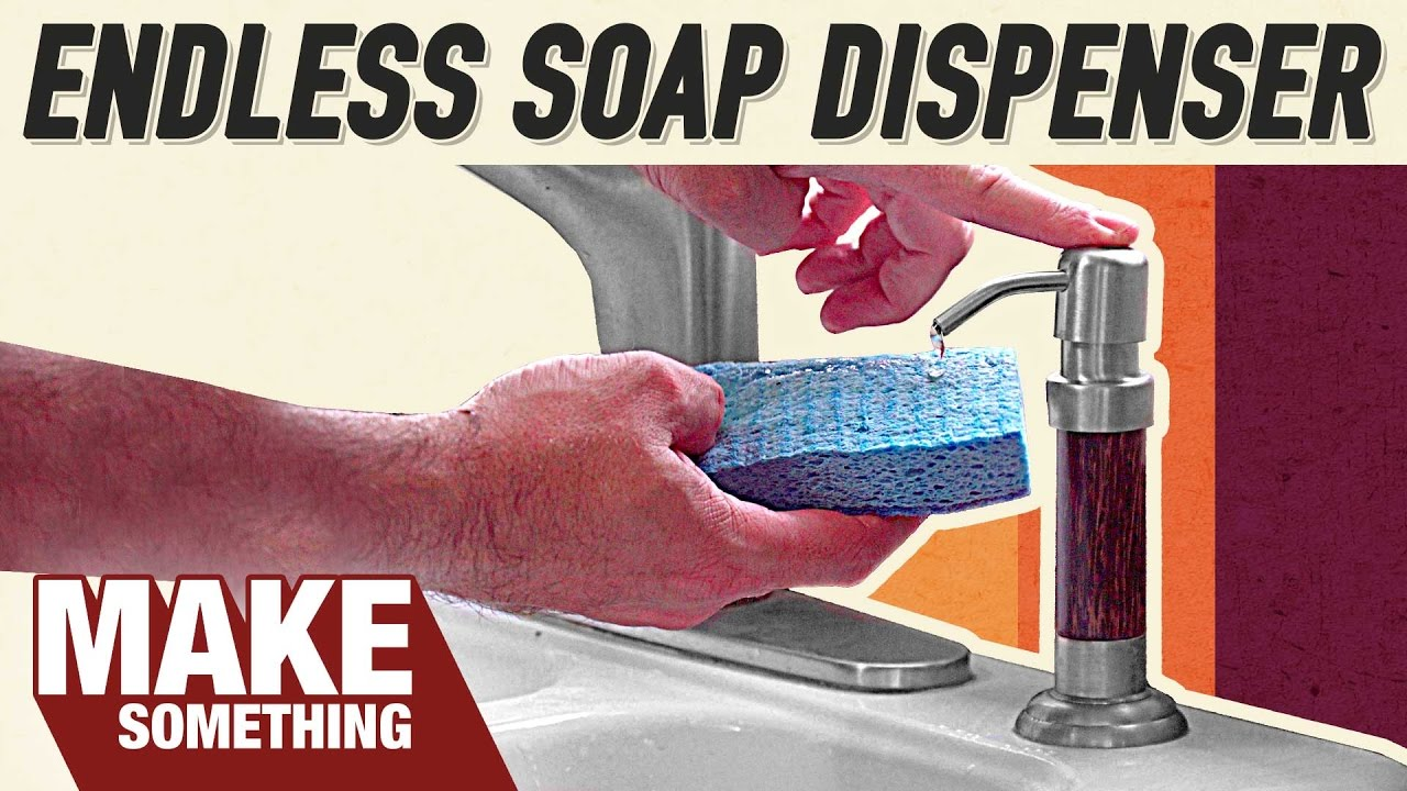 Easily Install An Endless Soap Dispenser In Your Kitchen Sink Diy