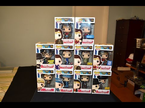 WONDER WOMAN MOVIE FUNKO POP COLLECTION! Diana Prince, Antiope, Etta Candy, Exclusives