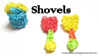 Rainbow Loom Shovel/Beach Toys charm - How to - Summer Series