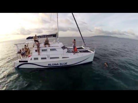 Catamaran Yacht Ride on the AlonaBlue Bohol Philippines- Dji Phantom 2 Gopro Hero 3+