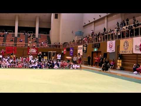 白井健三 ゆか4回捻り(関西ジュニア演技会)