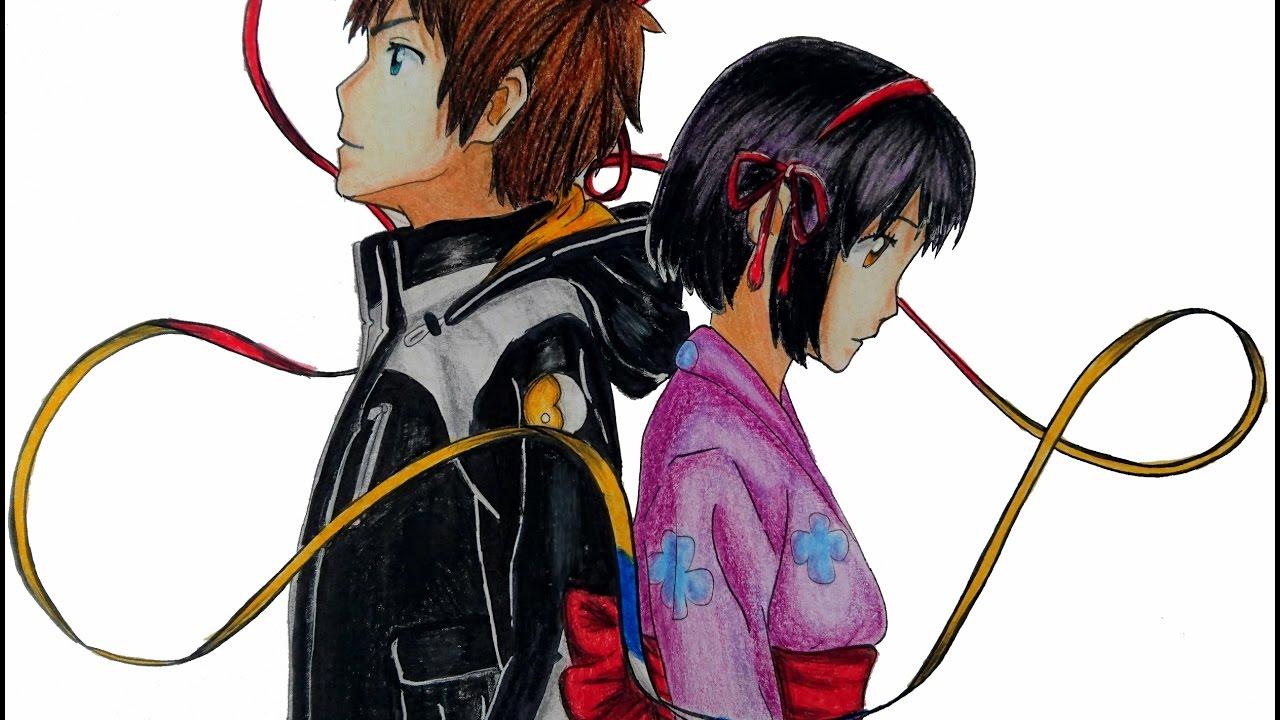 Speed Drawing Taki And Mitsuha Your Namekimi No Na Wa