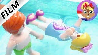 Playmobil filmpje Nederlands - JULIAN VERDRINKT IN HET ZWEMBAD? Kinderserie familie Vogel