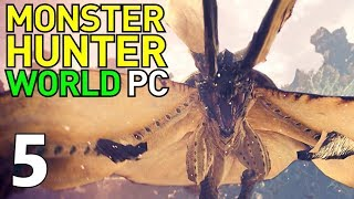 [5] Into The Coral Highlands! (Monster Hunter World PC Gameplay)