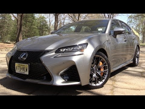 2017 Lexus GS F Start Up, Road Test In Depth Review