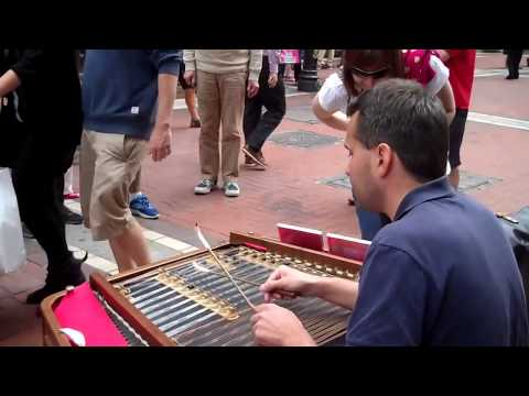Cimbalom Music played by Miroslav Vavák  in Grafton St. Dublin, Ireland