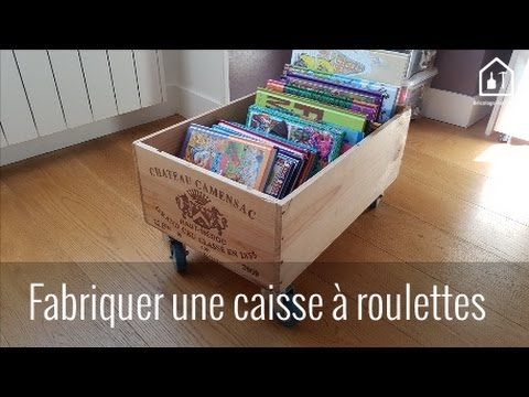 tutoriel fabriquer une caisse roulettes bricolage. Black Bedroom Furniture Sets. Home Design Ideas