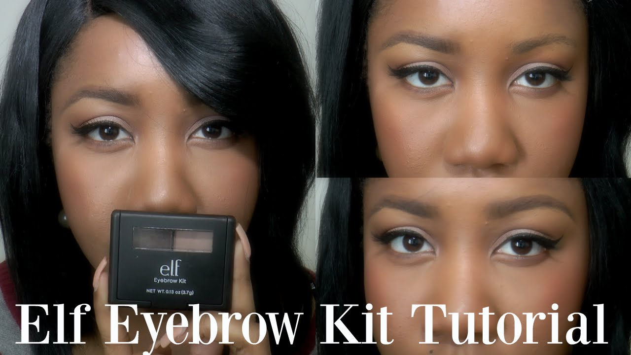 3 Bomb Brows Elf Eyebrow Kit Medium Tutorial Youtube