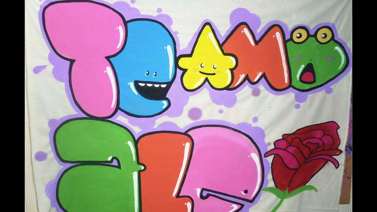 Haciendo manta de te amo Ale  Cmo hacer un cartel de feliz