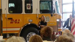 Catasauqua Firefighter Memorial and Walk of Fame ceremony 2