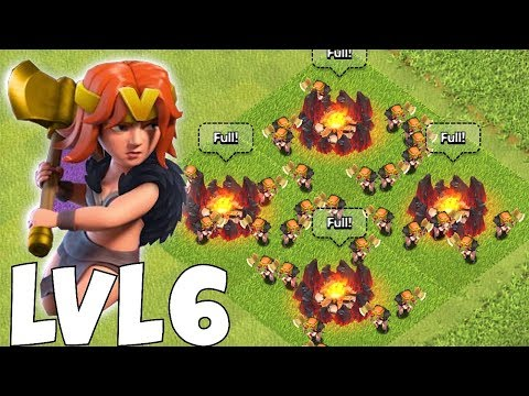 """NEW UPDATE!! LVL 6 VALKYRIE!! """" Clash of clans """""""
