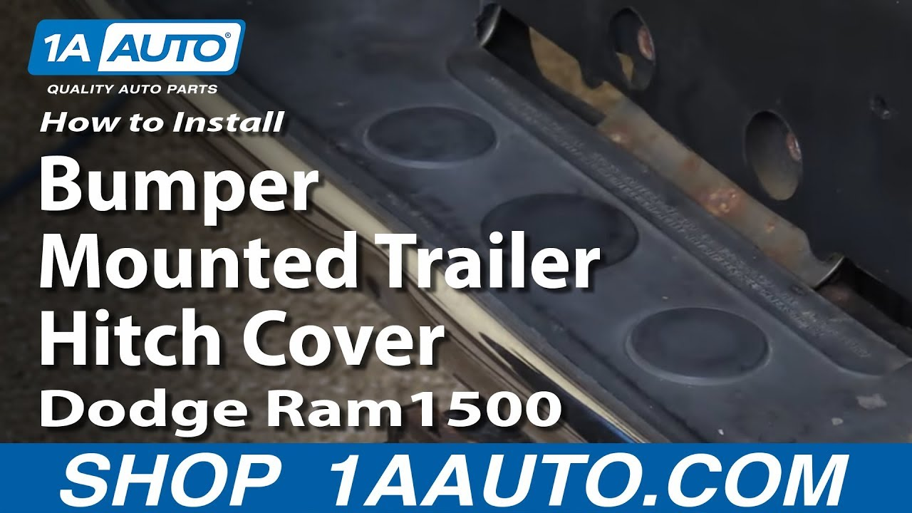 How to Replace Bumper Mounted Trailer Hitch Cover 03-10 Dodge Ram 1500