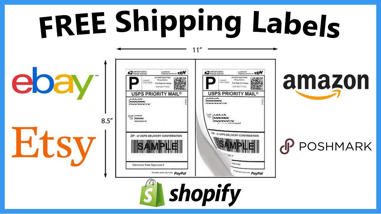 How To Get FREE Shipping Labels (Amazon Ebay Poshmark Etsy) | Monetary  Ocean 2019