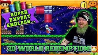 3D WORLD REDEMPTION! [4] Super Mario Maker 2 Endless Super Expert No Skip Challenge with Oshikorosu!
