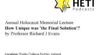 HETI Annual Holocaust Memorial Lecture 2012