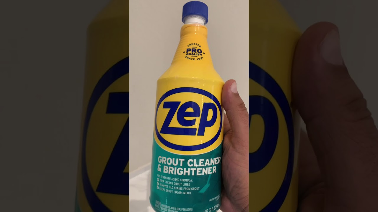 Download How to clean your dirty Grout using Zep Grout cleaner and brightener product