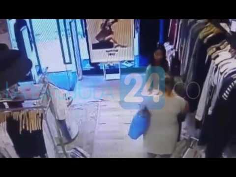 Mecheras quedan filmadas cuando roban con total impunidad una costosa campera