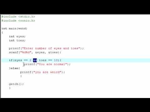 C Programming Tutorial - 10 - Logical Operators