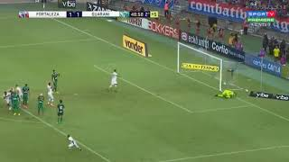 Gol de falta Gustavo Fortaleza X Guarani