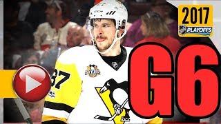 Pittsburgh Penguins vs Ottawa Senators. NHL 2017 Playoffs. Eastern Conference Final. Game 6. (HD)
