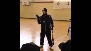 八戸大学野球教室.