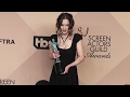 Winona Ryder Doesn't Seem Very Happy With Being Screamed At By Photogs At The 2017 SAG Awards