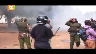 Multimedia University students protest deaths in Sunday matatu crash