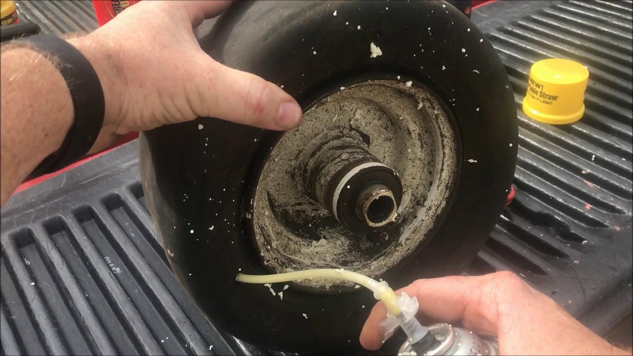No More Flat Tires How To Fill A Tire With Foam Youtube