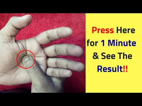 Press This Point for 1 Minute and See What Happens - Reflexology Massage Benefits