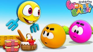 Picnic Panic with Squishy Wonderballs | Wonderballs Season 2 | Funny Cartoons for Kids