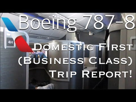 FIRST CLASS TRIP REPORT: American Airlines Boeing 787-8 Dreamliner! | Los Angeles - Chicago