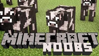 Dirty dirty cow love!! (Noobs play Minecraft)