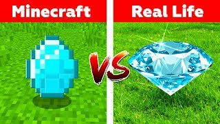 MINECRAFT DIAMONDS IN REAL LIFE! Minecraft vs Real Life animation
