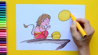 How to draw and color Bal Hanuman