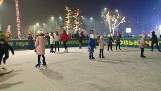 В Бишкеке открылся современный каток под открытым небом / 18.12.17 / НТС