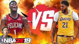 ZION WILLIAMSON GOES SUPER SAIYAN VS ANTHONY DAVIS!!! NBA 2K19