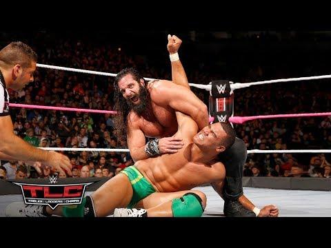 Jason Jordan puts on an incredible athletic showcase, tossing Elias around the ring: WWE TLC 2017