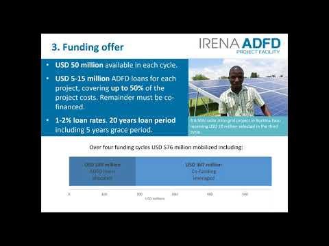 IRENA ADFD Project Facility Webinar for Applicants-Sixth Funding Cycle
