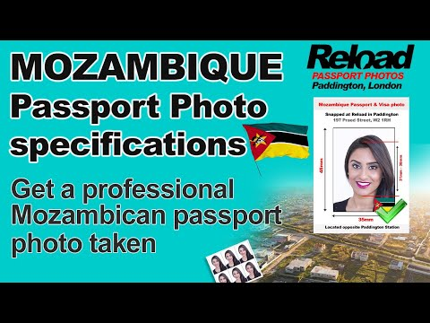 Mozambique Passport Photo and Visa Photo snapped in Paddington, London