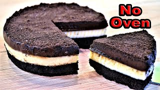 No-Bake Triple Layer Oreo & Chocolate Cake | Egg-less Cake | By Neetu Suresh