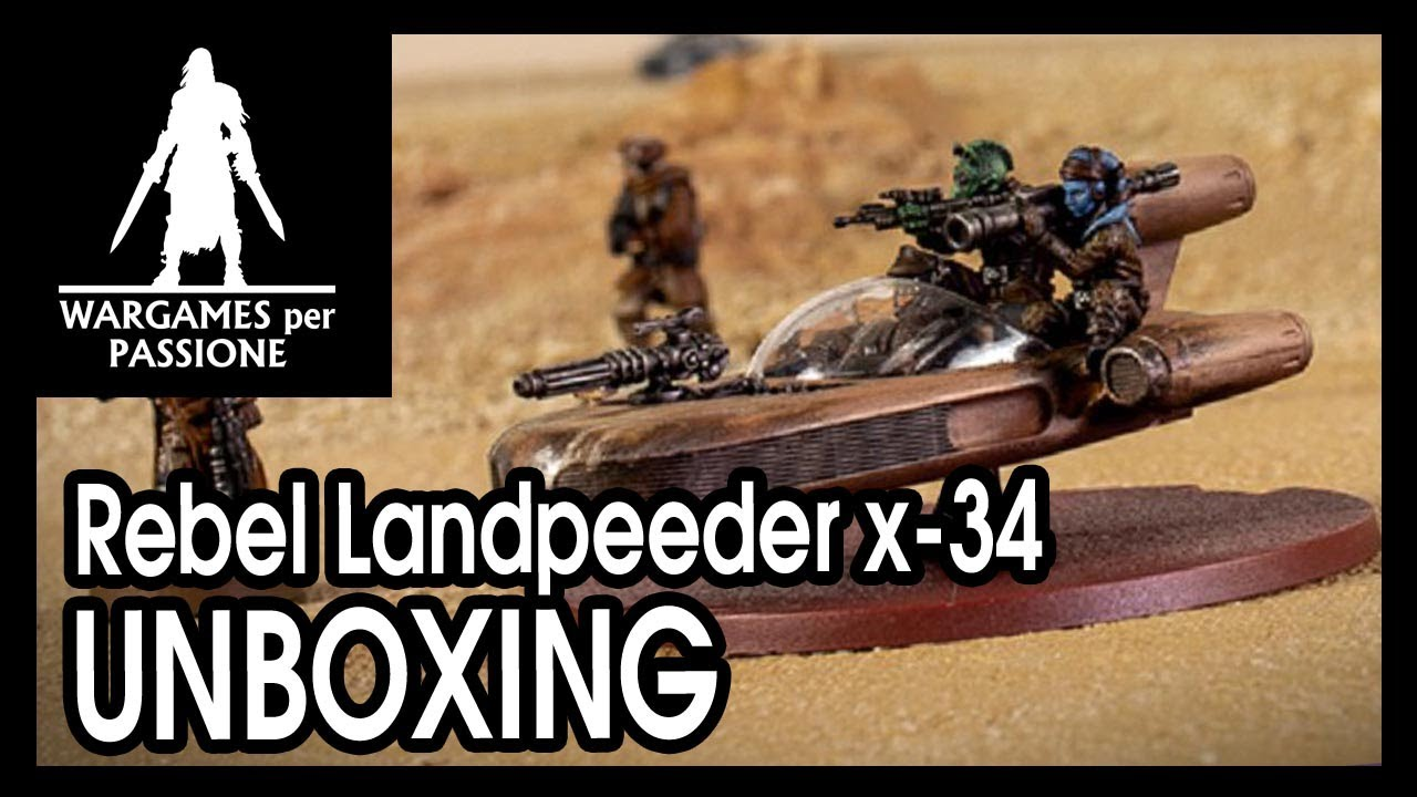 STAR WARS LEGION REBEL X-34 LANDSPEEDER