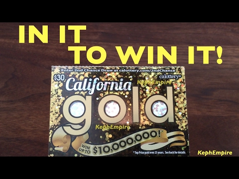 WIN WIN BIG NO MATTER WHAT !!! California Gold $30 California Lottery Scratchers