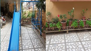 Rainbow vlogs uploaded|tour of my courtyard with areesha &ashar