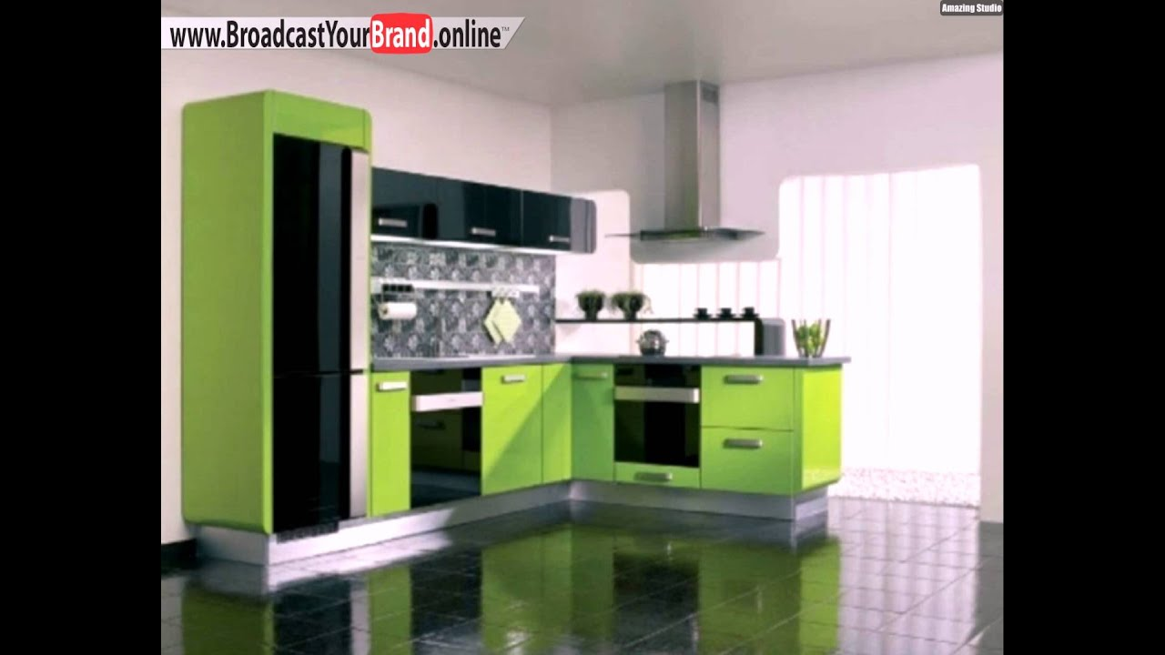 schwarz gr ne farbe k che modern youtube. Black Bedroom Furniture Sets. Home Design Ideas