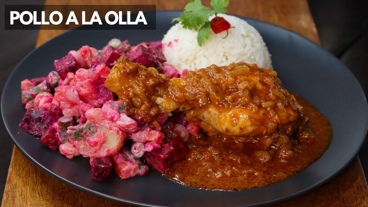 Así Preparó El Pollo A La Olla Con Ensalada Rusa En Un Toque Cocina Fácil Youtube Comida Saludable Pollo Recetas De Comidas Ricas Recetas De Comida