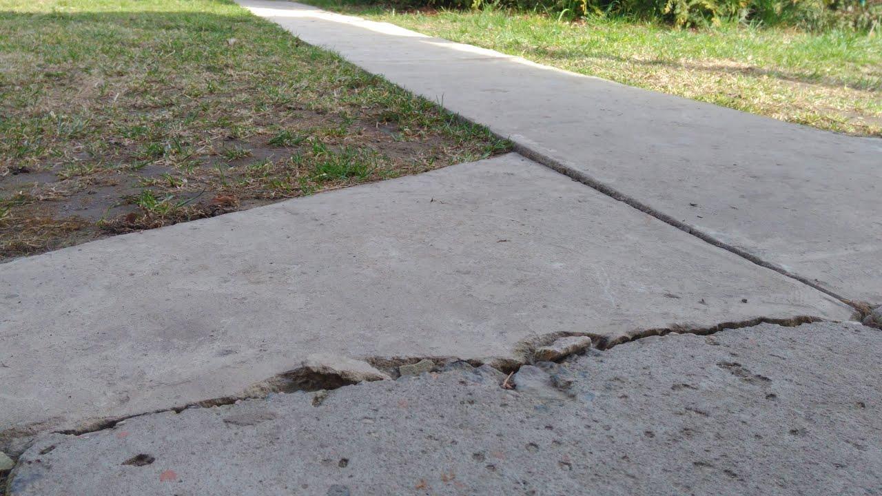 залить тротуар бетоном