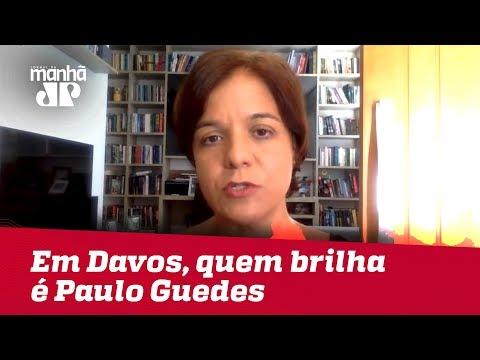 Bolsonaro se mostra desconfortável em Davos e quem brilha é Paulo Guedes | #VeraMagalhães