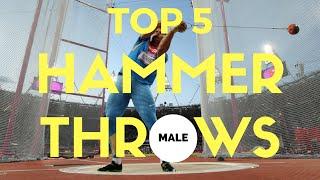 Top 5 | Hammer Throws | Hammer Throw World Records (Men)